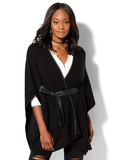 Tie-Front Poncho  - New York & Company