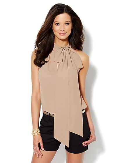Tie-Neck Halter Top