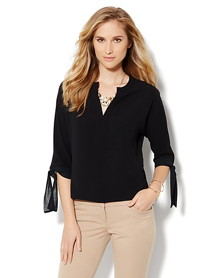 Tie-Sleeve Blouse - New York & Company