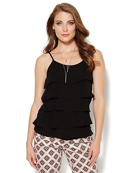 Tiered Chiffon Camisole  - New York & Company