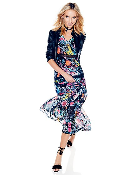 Tiered Maxi Dress - Floral  - New York & Company