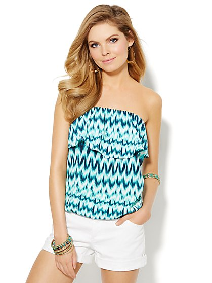 Tiered Strapless Top  - New York & Company