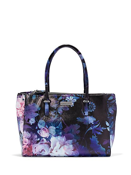 Top-Handle Tote Bag - Floral  - New York & Company