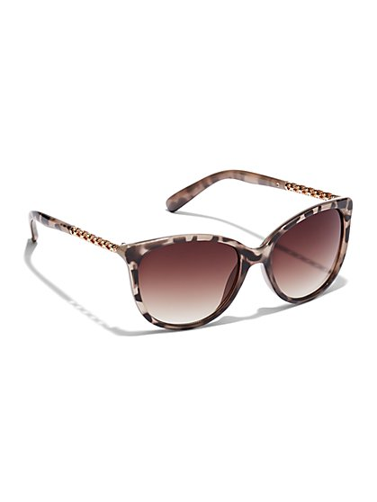 Tortoise and Goldtone Sunglasses - New York & Company