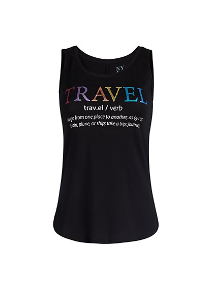 Travel Graphic Black Tank - New York & Company