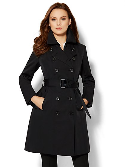 Trench Coat - Black  - New York & Company