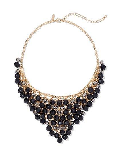 Triangular Beaded Bib Necklace  - New York & Company