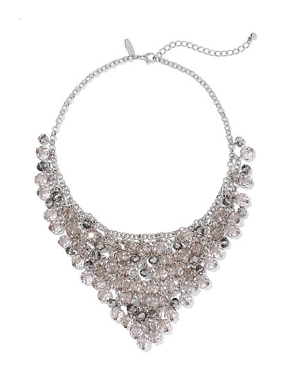 Triangular Beaded Bib Necklace  - New York & Company