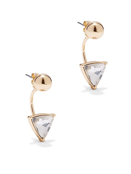 Triangular Front/Back Earring   - New York & Company
