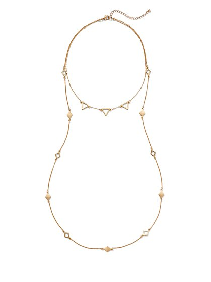 Triangular Layered Necklace  - New York & Company