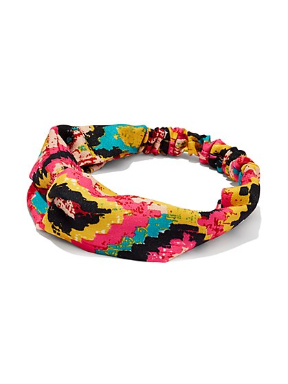 Tribal Print Soft Headband  - New York & Company