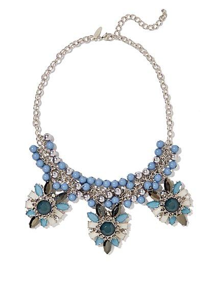 Trio Pendant Beaded Necklace - New York & Company