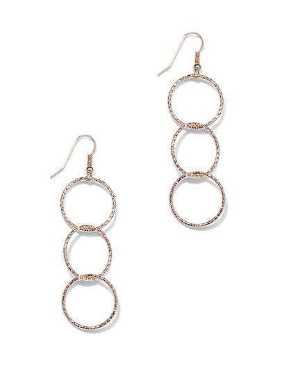 Triple-Circle Drop Earrings  - New York & Company