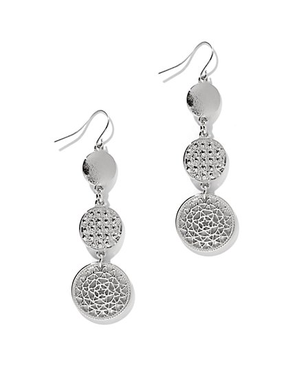 Triple Disc Drop Earrings - New York & Company