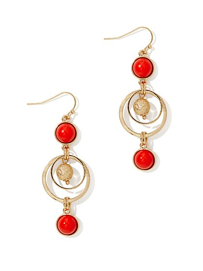 Triple-Drop Beaded Earring - New York & Company