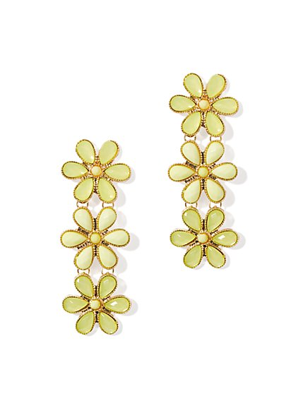 Triple-Drop Daisy Earring