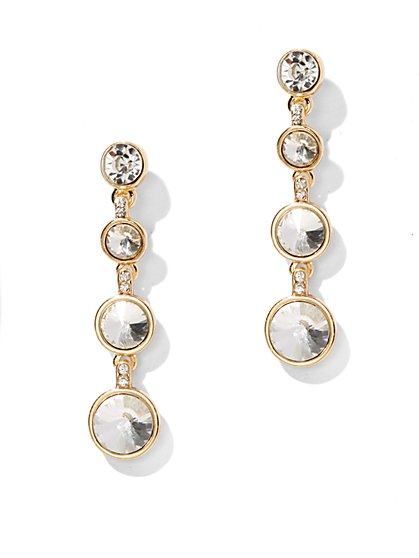 Triple-Drop Faceted Post Earring - New York & Company