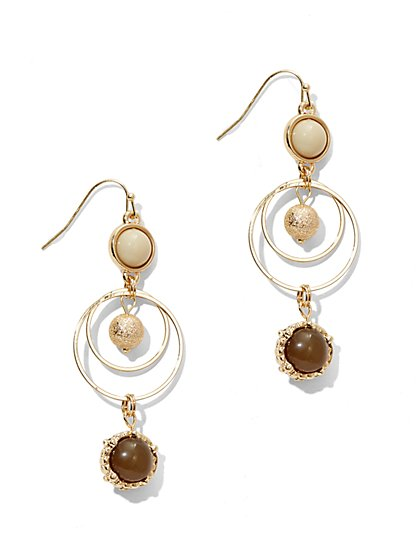 Triple-Drop Sphere Earring  - New York & Company