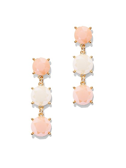 Triple Faux-Stone Drop Earring  - New York & Company