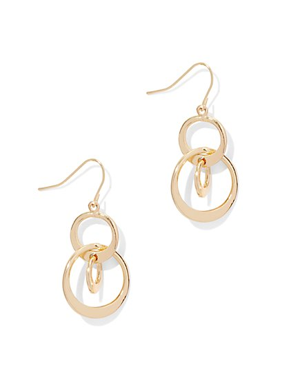 Triple-Hoop Drop Earring  - New York & Company
