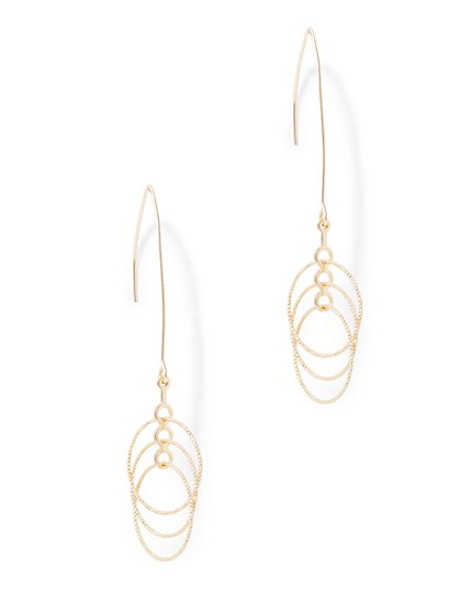 Triple Hoop-Drop Earrings  - New York & Company
