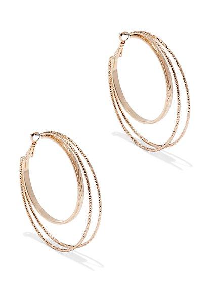 Triple Hoop Earring  - New York & Company