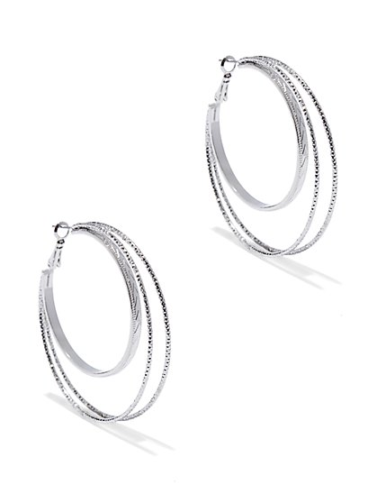 Triple Hoop Earring  - New York & Company