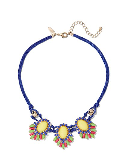 Triple-Pendant Statement Necklace  - New York & Company