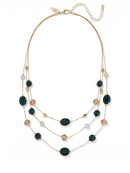 Triple-Row Beaded Necklace  - New York & Company