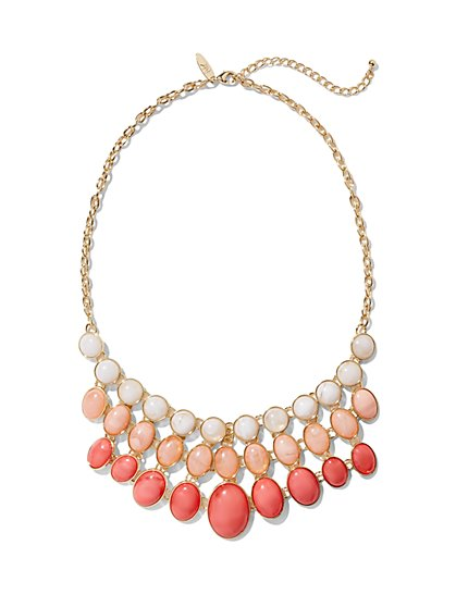 Triple-Row Bib Necklace  - New York & Company