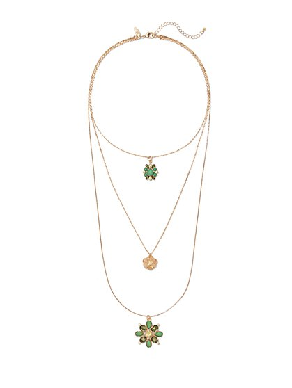 Triple-Row Layered Necklace  - New York & Company