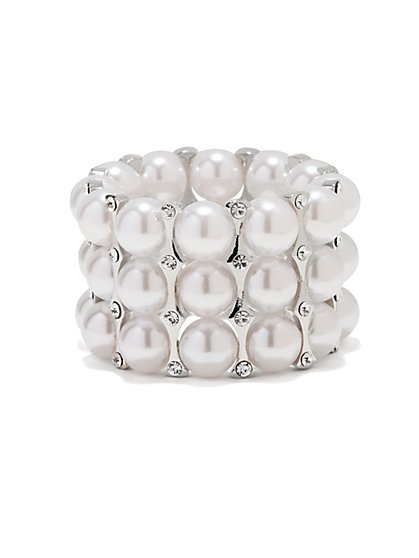 Triple-Row Pearl Bracelet