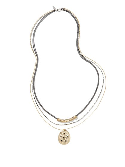 Triple-Strand Pendant Necklace - New York & Company
