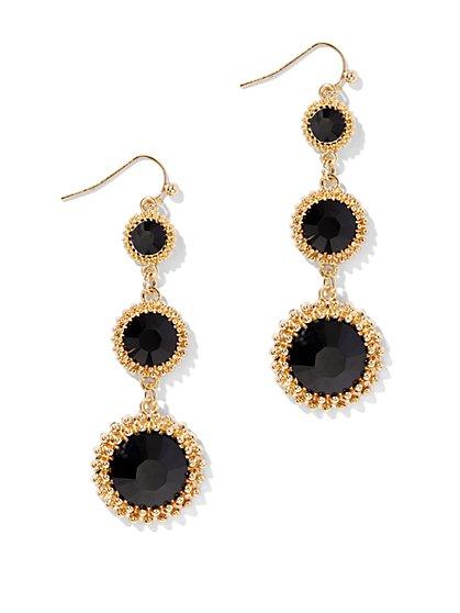 Triple-Tier Golden Frame Earring  - New York & Company