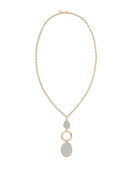 Triple-Tier Pendant Necklace  - New York & Company