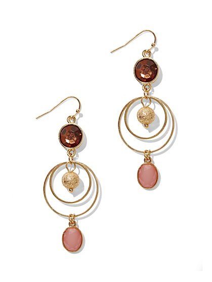 Triple-Tier Sphere Drop Earrings  - New York & Company