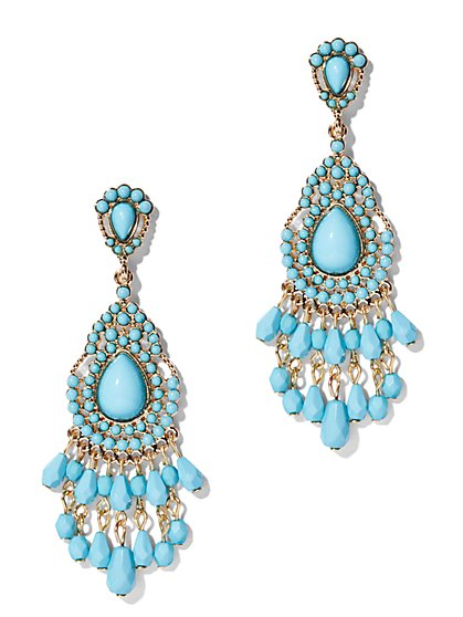 Turquoise Chandelier Earring  - New York & Company