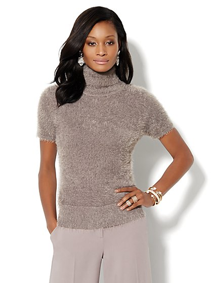 Turtleneck Eyelash Sweater - New York & Company