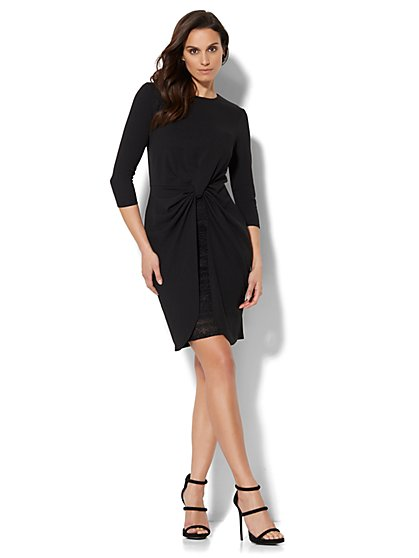Twist-Detail Dress - Petite - New York & Company