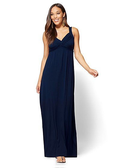 Twist-Detail Maxi Dress - New York & Company