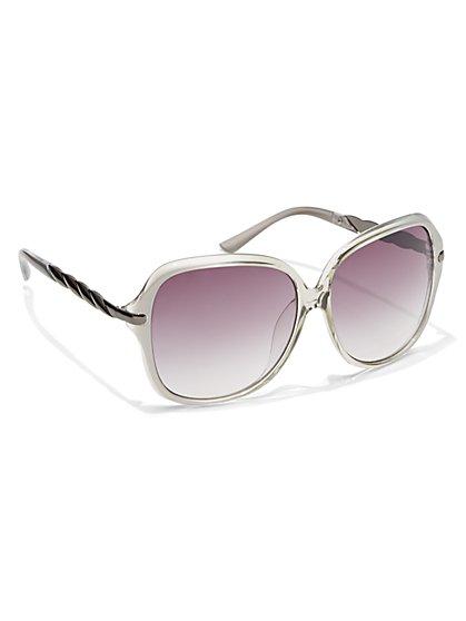 Twist-Detail Oversized Sunglasses  - New York & Company