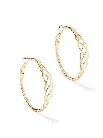 Twisted Woven Hoop Earring