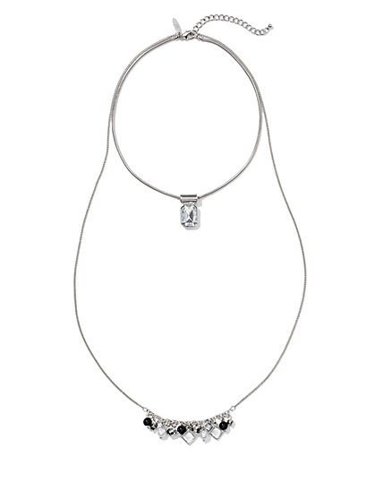 Two-In-One Cluster Necklace  - New York & Company