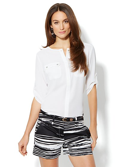 Two-Pocket Popover Top