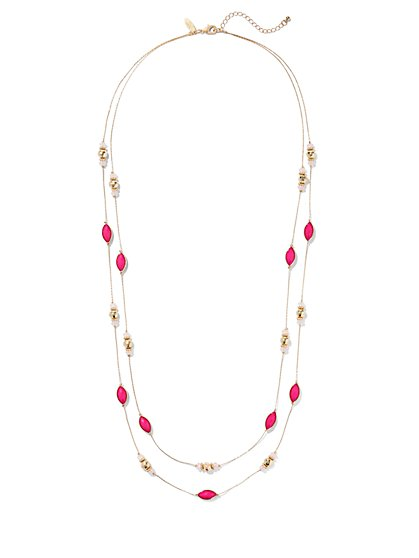 Two-Row Beaded Necklace  - New York & Company