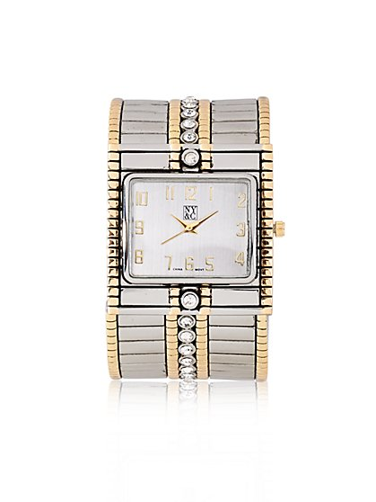 Two-Tone Cuff Watch  - New York & Company