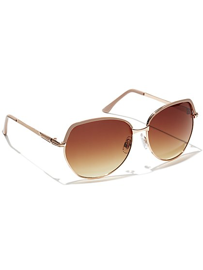 Two-Tone Frame Sunglasses  - New York & Company