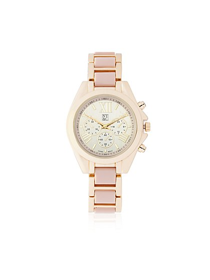 Two-Tone Link Watch  - New York & Company