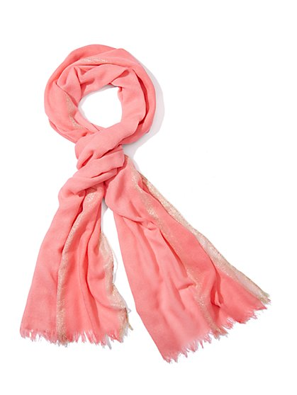 Two-Tone Sparkle-Stripe Scarf