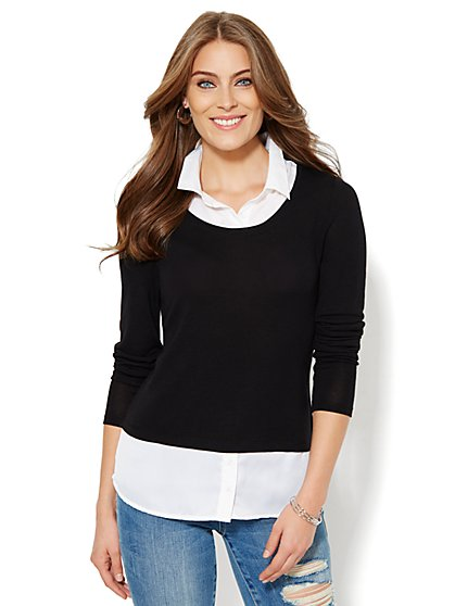Two-in-One Top    - New York & Company